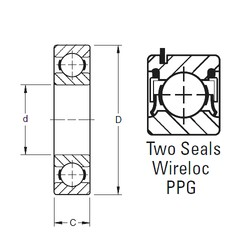 65 mm x 120 mm x 23 mm  Timken 213NPPG deep groove ball bearings