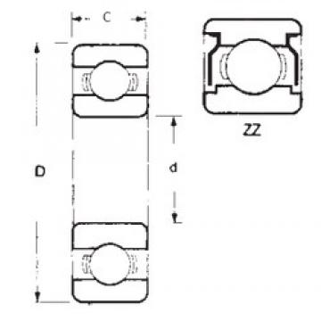 12 mm x 21 mm x 5 mm  FBJ 6801ZZ deep groove ball bearings