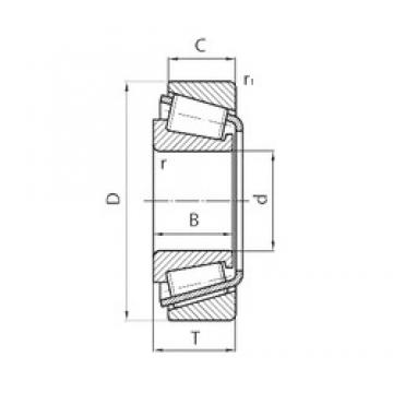 25 mm x 52 mm x 15 mm  CYSD 30205 tapered roller bearings