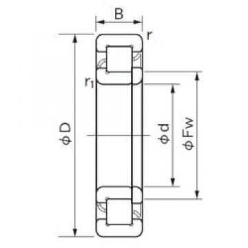 200 mm x 360 mm x 98 mm  NACHI NUP 2240 cylindrical roller bearings
