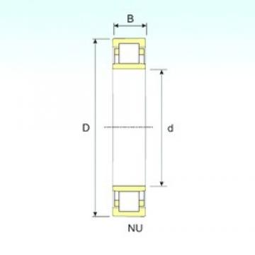 160 mm x 240 mm x 38 mm  ISB NU 1032 cylindrical roller bearings