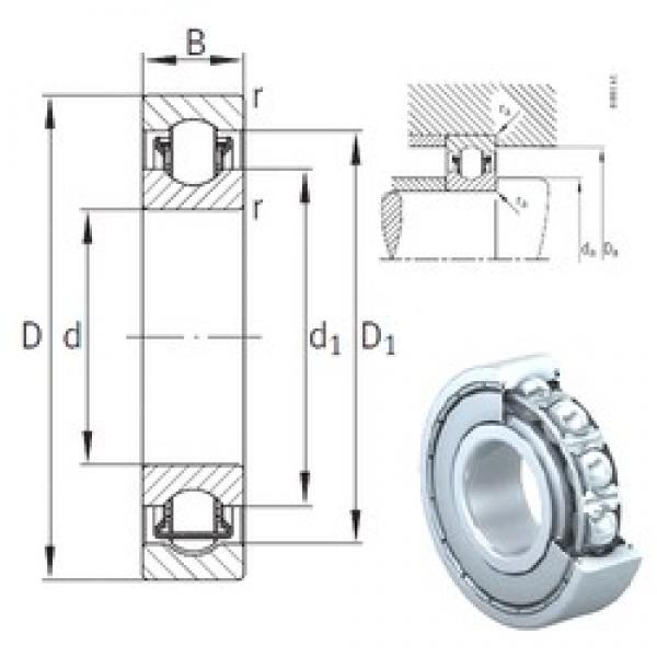 12 mm x 28 mm x 8 mm  INA BXRE001-2Z needle roller bearings #1 image